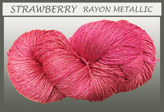 Strawberry Rayon Metallic Yarn