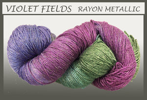 Violet Fields Rayon Metallic Yarn