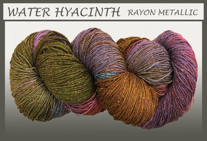 Water Hyacinth Rayon Metallic Yarn