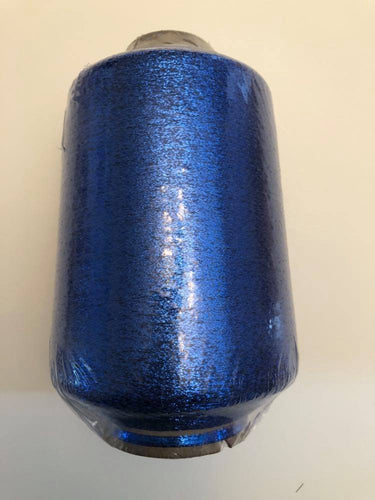 1 lb. cone of vintage metallic fine yarn: Royal Blue