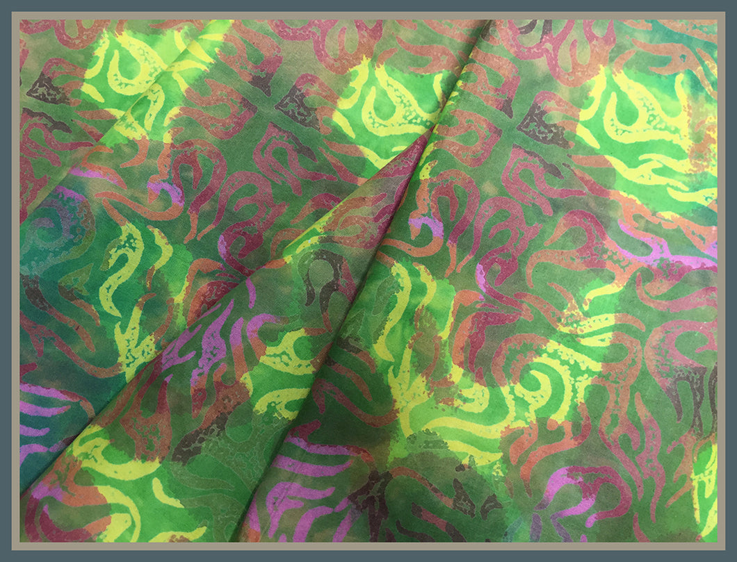 Cotton Batik Fabric: Seaweed