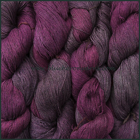 Black Raspberry Silk Linen Yarn