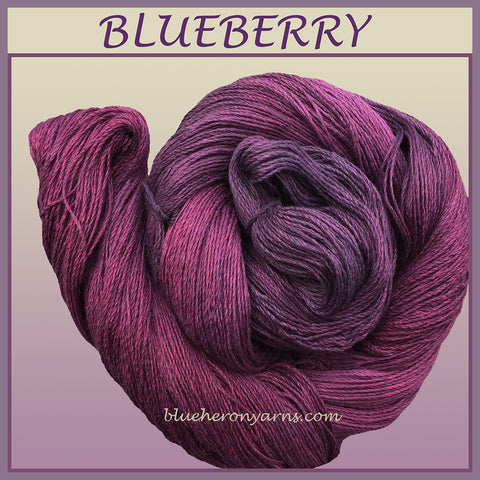Blueberry Silk Linen Yarn