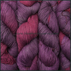 Boysenberry Silk Linen Yarn