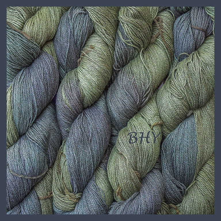 Dark Moon Silk Linen Yarn