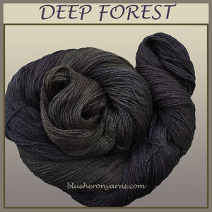 Deep Forest Silk Linen Yarn