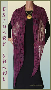 Blueberry Silk Linen Yarn Estuary Shawl