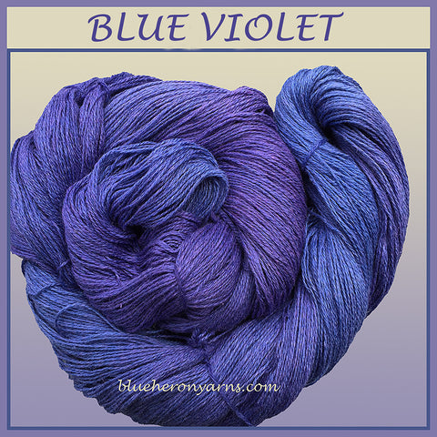 Blue Violet Silk Linen Yarn