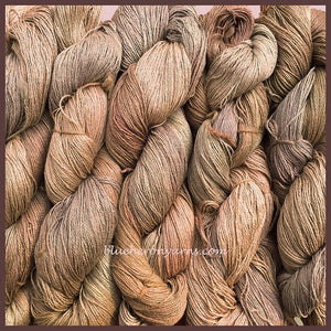 Milk Chocolate Silk Linen Yarn