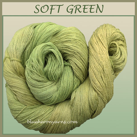 Soft Green Silk Linen Yarn