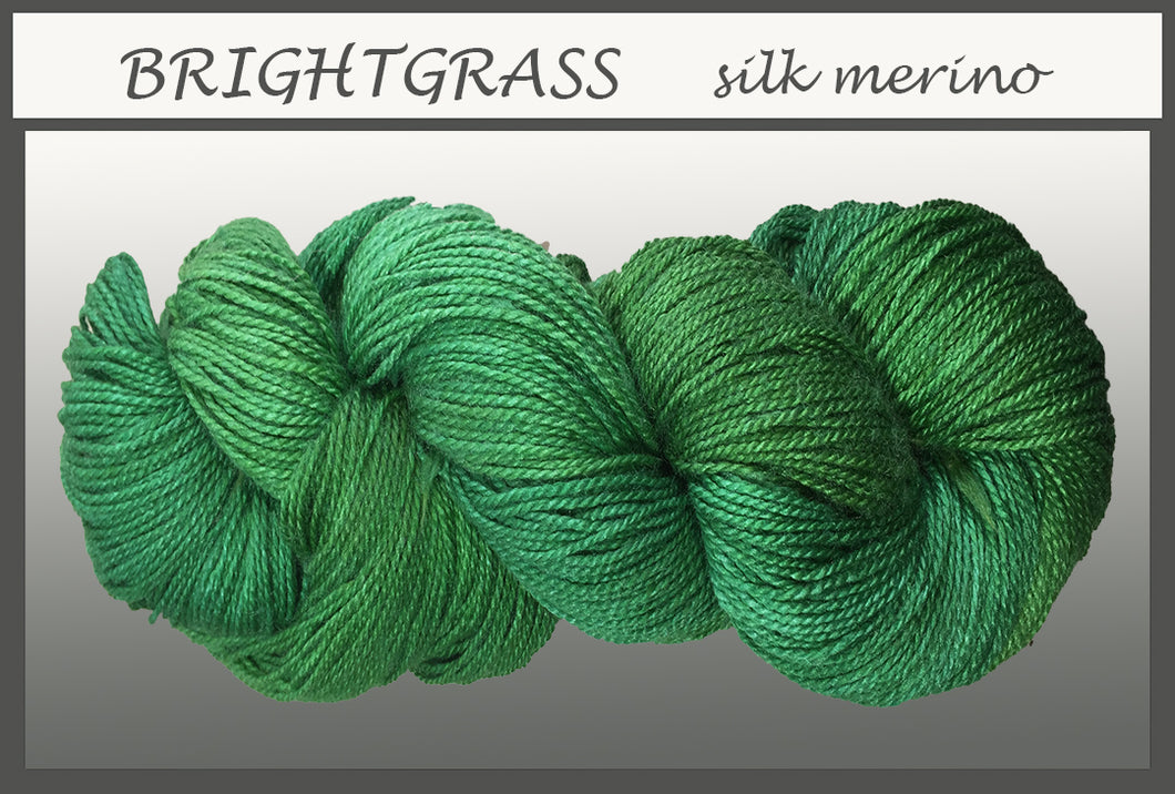 Bright Grass Silk Merino Yarn
