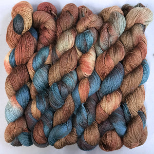 Silk Merino Lace Yarn: Redwood
