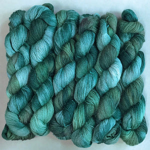 Silk Merino Lace Yarn: Evergreen