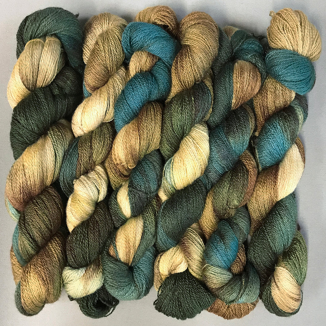 Silk Merino Lace Yarn: Wildgrass