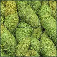 Soft Green Cotton Rayon Seed Yarn