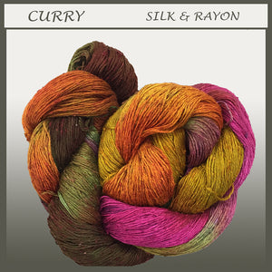 Curry Silk & Rayon Yarn