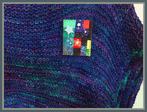 Starlight Starbright Quilted Pin