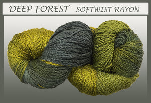 Deep Forest Softwist Rayon Yarn