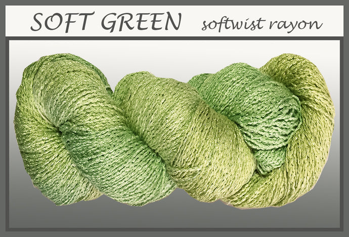 Soft Green Softwist Rayon Yarn
