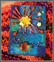 Quilted Pin: Setting Sun