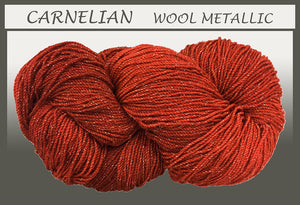 Carnelian Wool Metallic Yarn