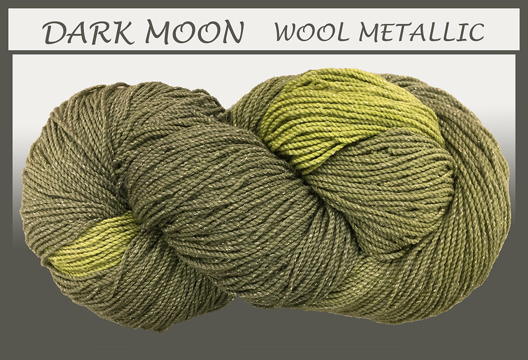 Dark Moon Wool Metallic Yarn