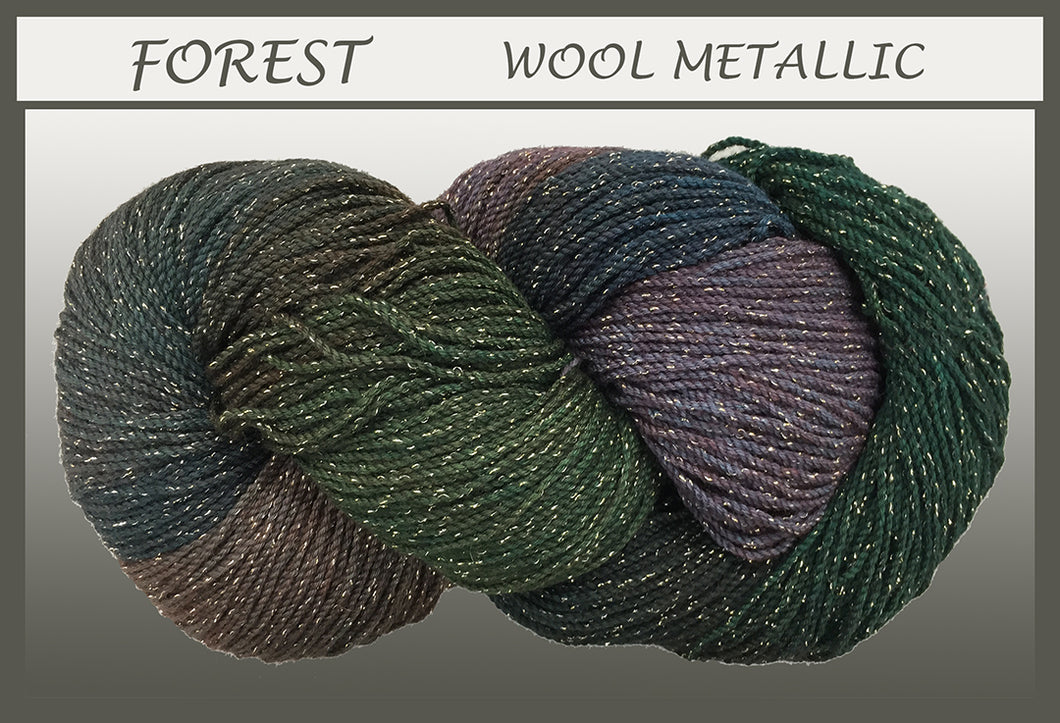 Forest Wool Metallic Yarn