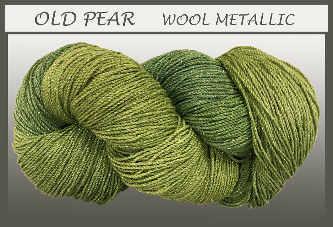 Old Pear Wool Metallic Yarn