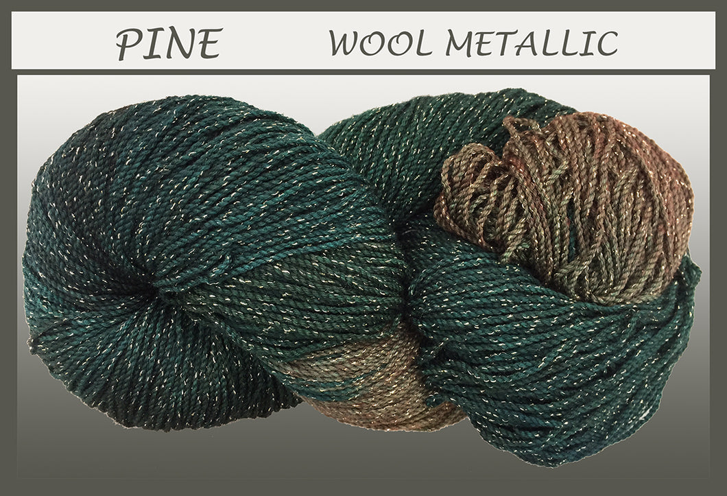 Pine Wool Metallic Yarn