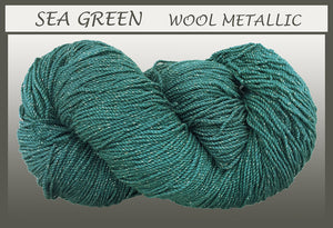 Sea Green Wool Metallic Yarn