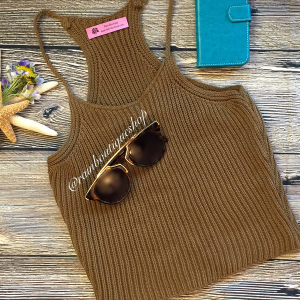 Cinnamon Crop Top
