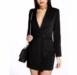 Blazer Seduction Dress (Black)