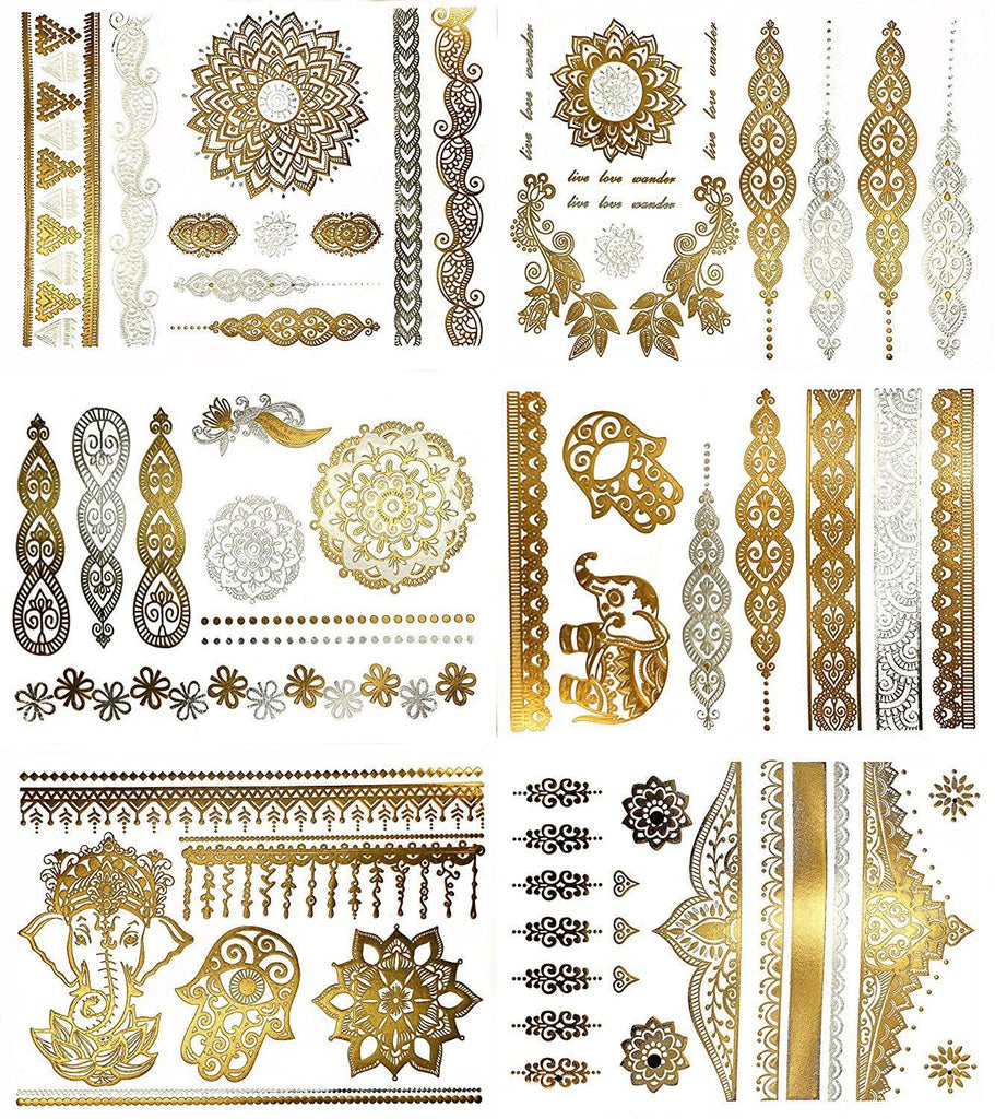Gold Metallic Temporary Tattoo