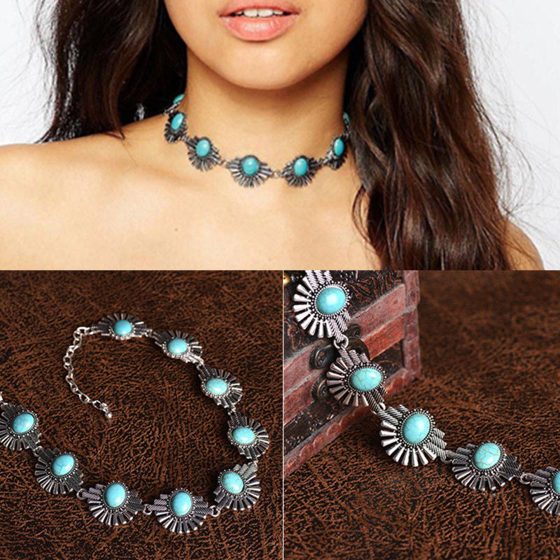 Berry Blue Vintage Necklace