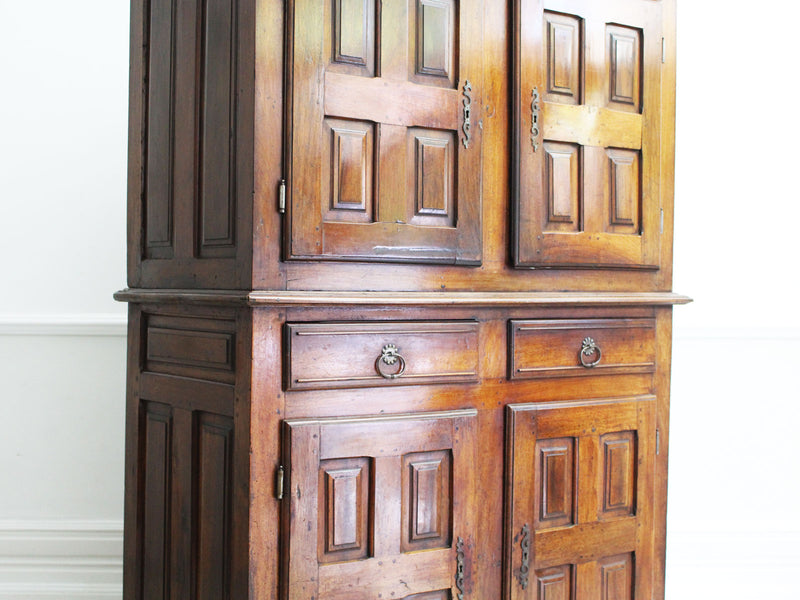 A 17th Century Louis XIII Walnut French Four Door Two Drawer Cupboard