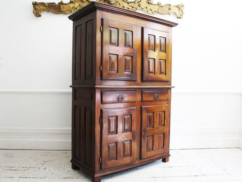 An Antique Brass Fronted Glazed Wall Mounted Shop Cabinet