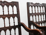 A Pair of 17th Century Italian Walnut Armchairs