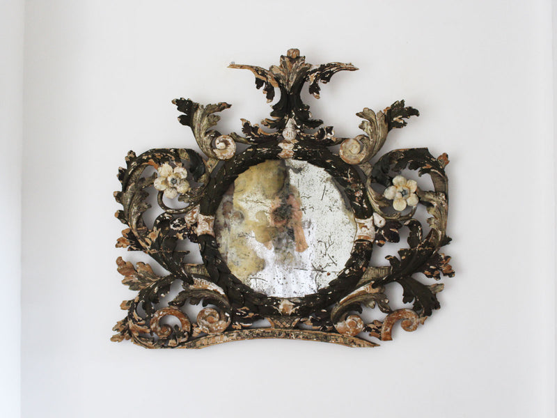 An 18th Century Italian Carved Architectural Mirror