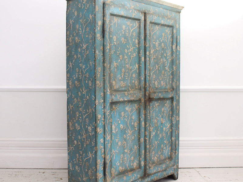 A Late 18th Century North Italian Blue & White Painted Cupboard