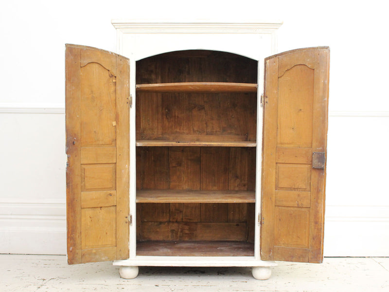 A Petite 18th Century White Painted French Cupboard