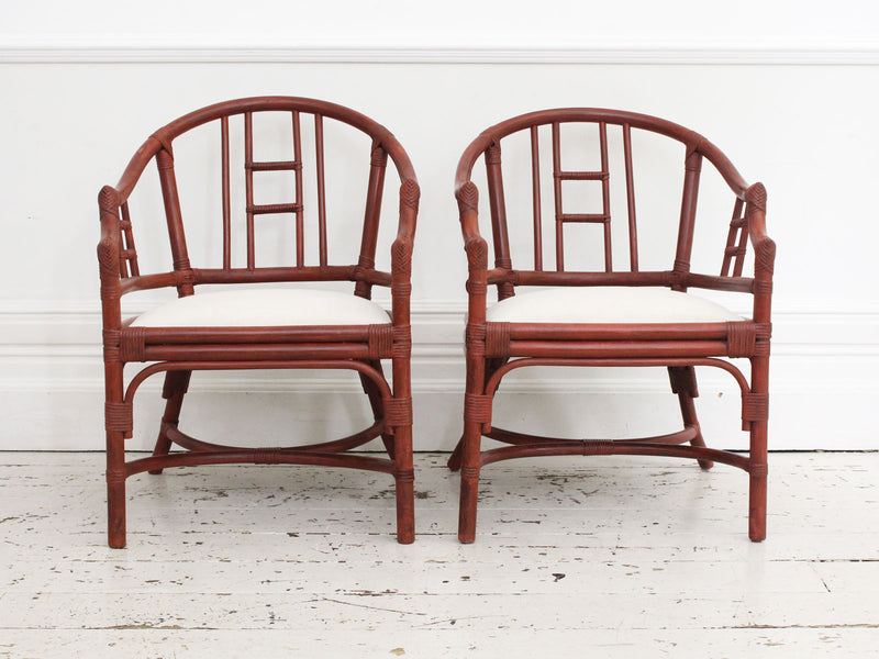 Two Pairs of 1950's Spanish Armchairs