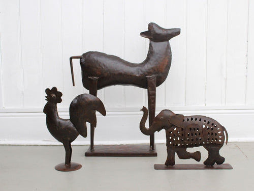 A 1950's Spanish Iron Sculpture of a Lamb