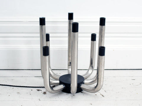 A 1970's Chrome Eight Arm Table Light Centre Piece