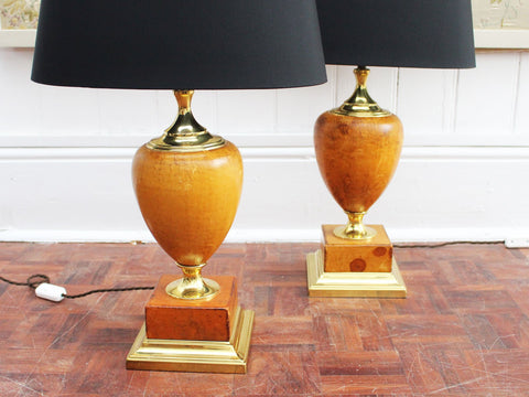 A Pair of 1950's Spanish Casa Pupo Ceramic Table Lights