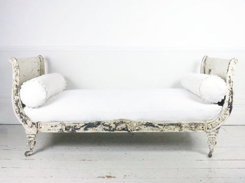19th century French painted metal daybed