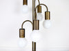 A weeping willow 1970's Italian floor light with 5 heads