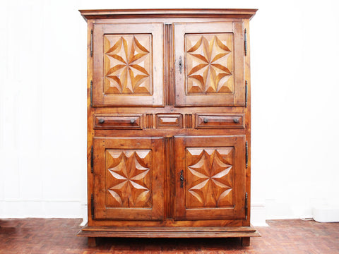 A 1950's Small Rattan Sideboard Cabinet in the French Riviera Style