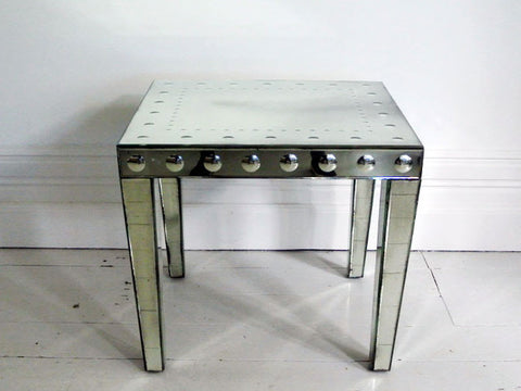 A French Mid Century Mirrored Centre Table