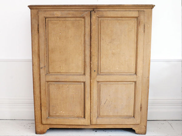 19th Century French Painted Linen Cupboard Armoire