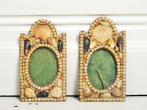 A pair of Napoleon III shell covered frames